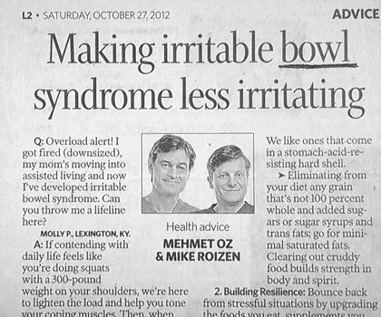 flatware headline bowl spelling newspaper