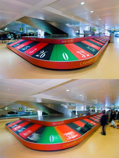 airport design roulette baggage claim baggage
