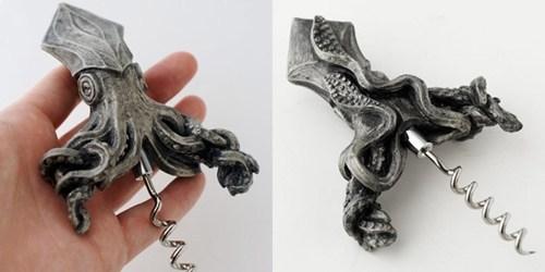 drinking squid design corkscrew - 6875365888