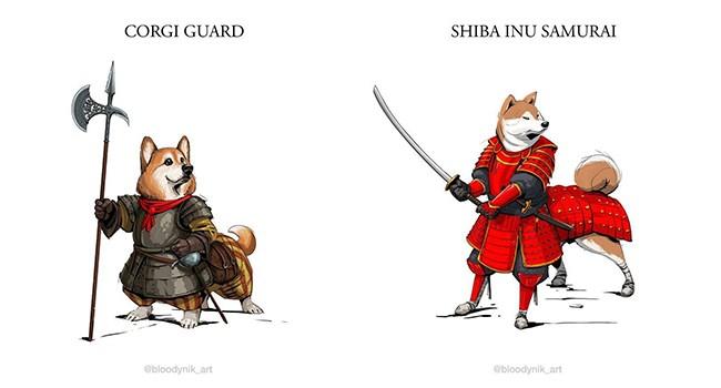 dogs art reimagine illustration - 6875397