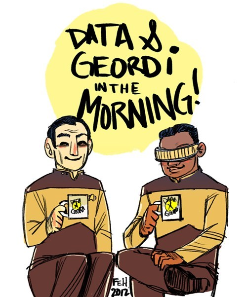 Fan Art community the next generation Geordi La Forge Troy and Abed data Star Trek - 6875540736