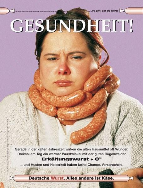 scarf poster german sausage - 6875544576