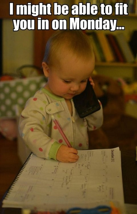 baby,phone,datebook