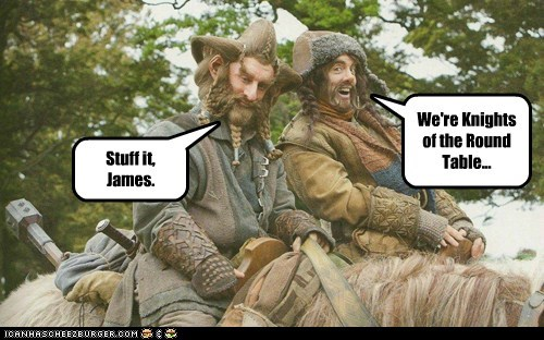 annoying singing dwarves The Hobbit knights of the round table