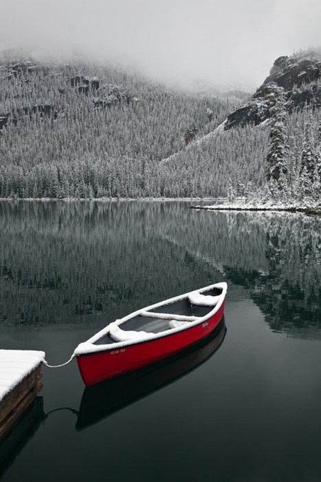 canoe winter lake destination WIN! g rated