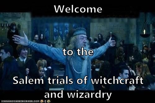 witchcraft,Harry Potter,dumbledore,Michael Gambon,welcome,salem,trials,Hogwarts