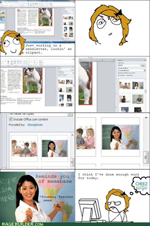 school clipart assignment self referential Terrible Teacher - 6877358848