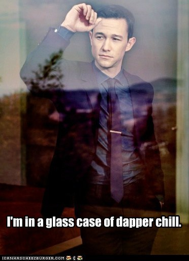 dapper,glass case,calm,chill,Joseph Gordon-Levitt