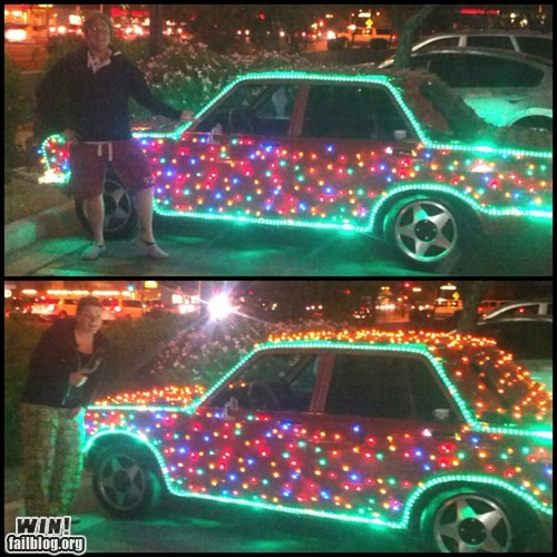 cars,driving,christmas lights,DIY