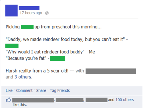 reindeer,fat,facebook