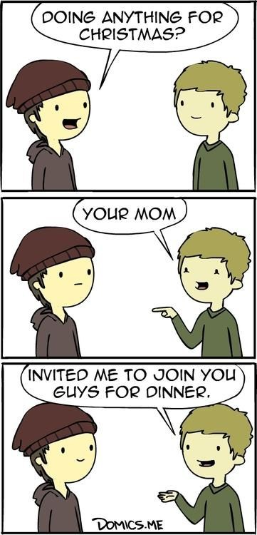 you mom christmas plans dinner comic - 6877654528