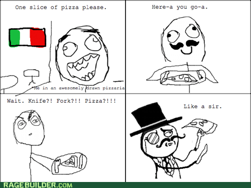 Italy pizza fork sir food