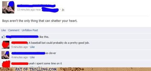 heart baseball bat facebook - 6877825024