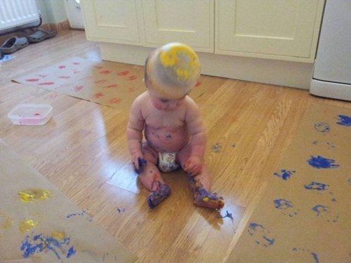 paint,messy,making a mess