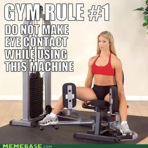 rules,gym,awkward eye contact