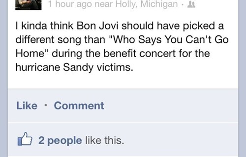 facebook,bon jovi,hurricane sandy