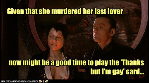 murder tempting farscape mele-on grayza gay rebecca riggs