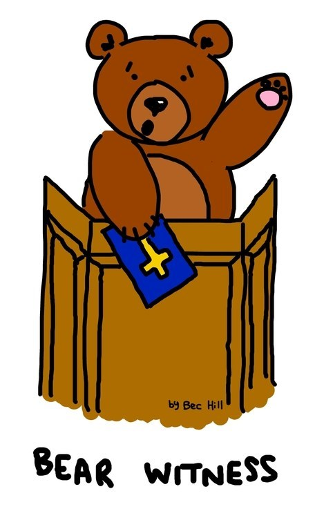 bear witness witness bear literalism double meaning - 6878102528