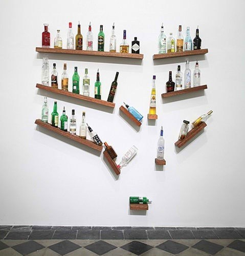 drinking art falling bottles - 6878250496