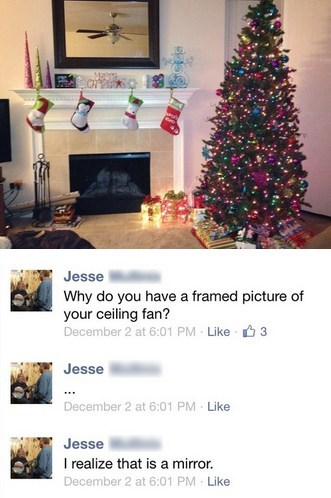 photograph mirror modern art christmas tree chandelier failbook g rated Hall of Fame best of week