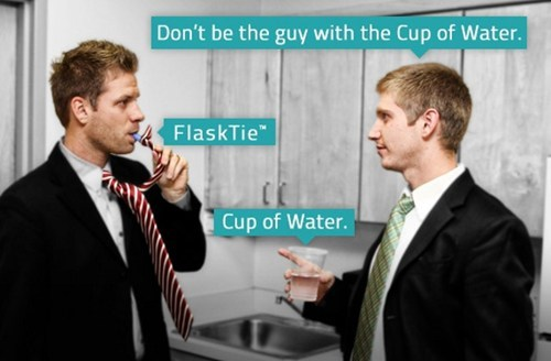 after 12 flasktie drunk tie cup of water - 6878405376