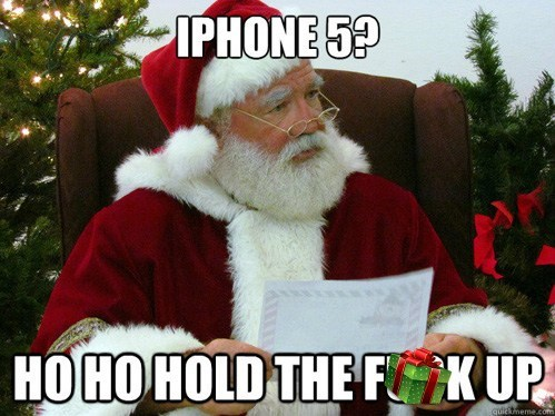 hold up iphone 5 santa claus - 6878447360