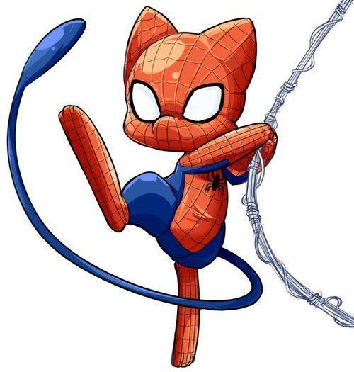 crossover,mew,art,Spider-Man