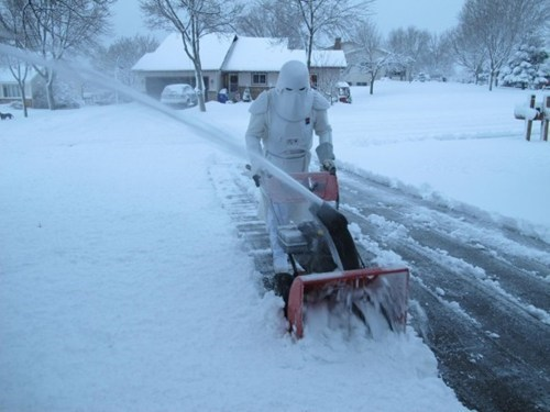 Snowtrooper clearing star wars snow Hoth work - 6878481664