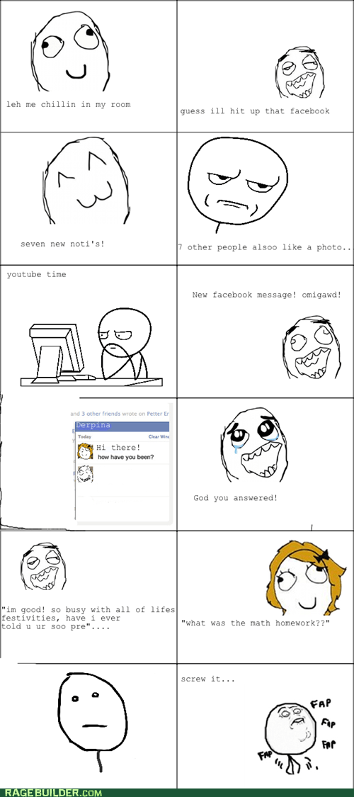 facebook chat,fap,derpina,story of my life