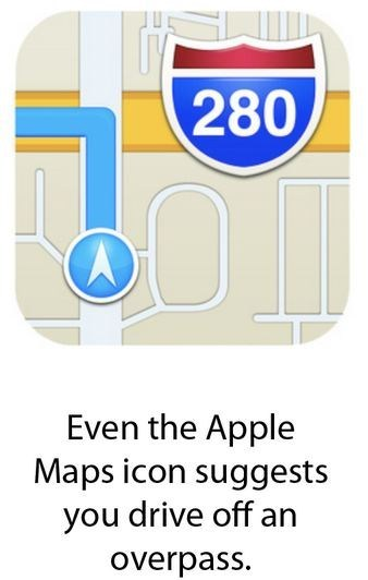 google maps drive off a bridge apple maps iphone 5 ios 6 app store g rated AutocoWrecks - 6878530816