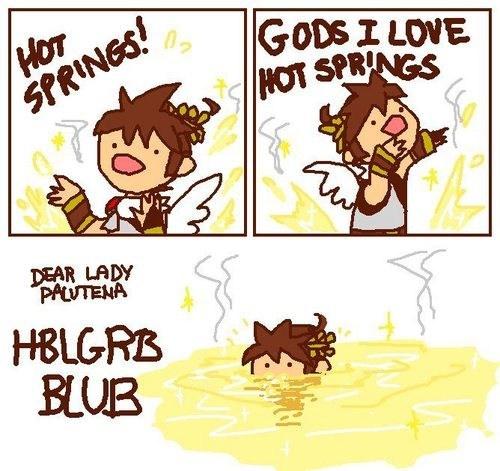 hot springs,kid icarus,pit,nintendo