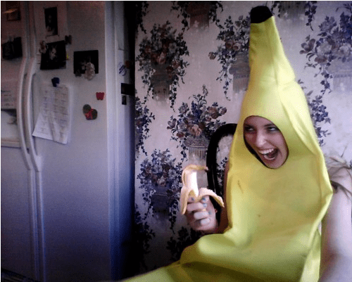 banana suit,costume,poorly dressed,g rated