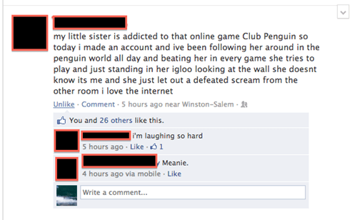 trolling addicted club penguin igloo video games
