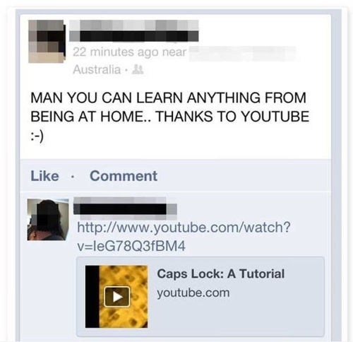 caps lock,youtube