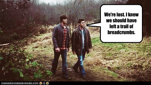 jensen ackles trail breadcrumbs Supernatural dean winchester sam winchester Jared Padalecki lost - 6878689280