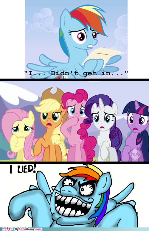 wonderbolts i lied rainbow dash