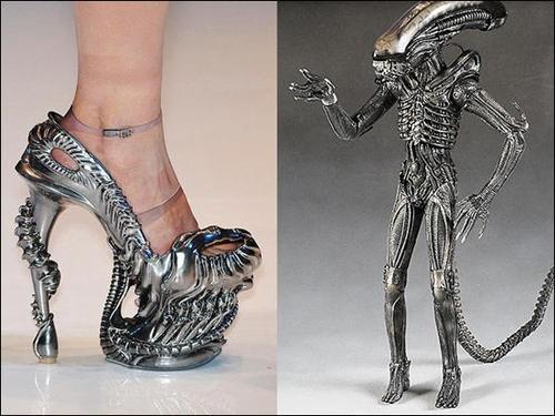 alien,high heels