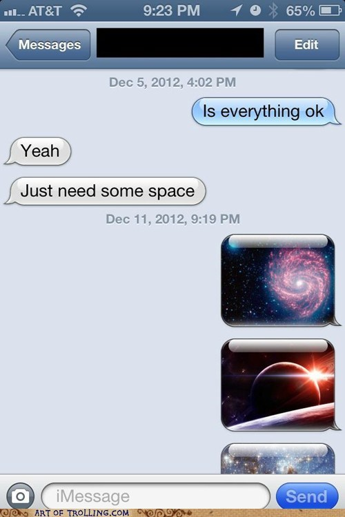 text space iphone