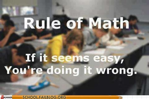 easy,calculus,doing it wrong,math,rule of math