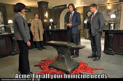 acme,jensen ackles,homicide,Supernatural,dean winchester,misha collins,sam winchester,Jared Padalecki,castiel