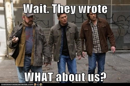 bobby singer wait what jensen ackles fan fiction dean winchester sam winchester Jared Padalecki jim beaver - 6880387328