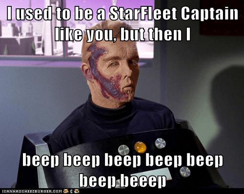 starfleet captain pike arrow in the knee the menagerie captain - 6880420096