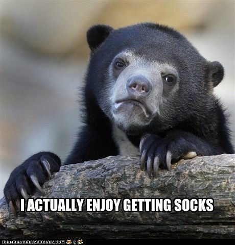 socks,jingle memes,Confession Bear