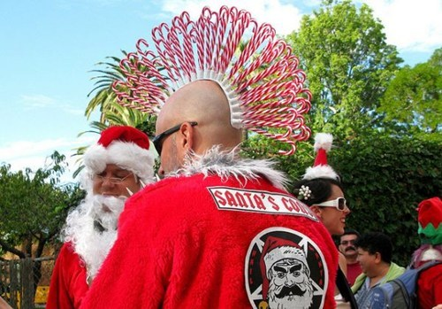 bikers candy canes mohawk - 6880650240