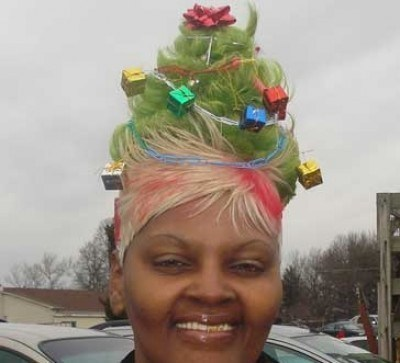 hairdos,christmas tree,beehive hairdo