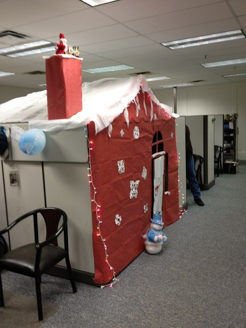 cubicle prank office pranks santa's workshop cubicle monday thru friday g rated