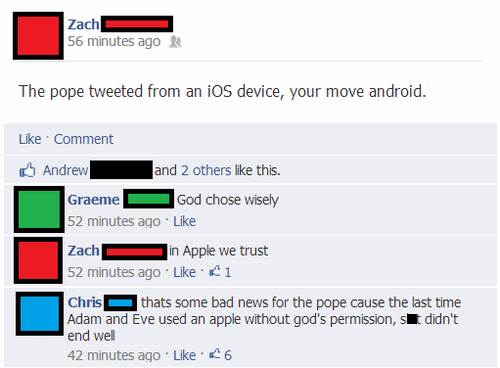 android pontifex pope pope twitter ios 6 apple App failbook g rated