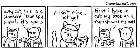 cat,spy,gun,comic