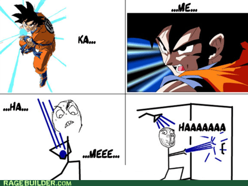 kamehameha,water,shower,dragonball z,TV,lol