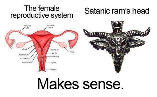 satan,makes sense,ladybits,dating fails